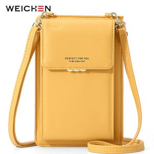 Weichen Brand Pequeño Crossbody bolsos de las mujeres suaves del hombro de cuero del bolsillo del teléfono celular del monedero de las señoras de bolso femenino Mini Messenger Bag NUEVO