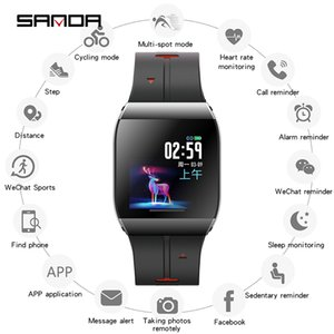 SANDA X1 HD grande Display Elder Lembrete Homens Vida Assistente novo Smart Digital Assista Feminino Freqüência Cardíaca Relógios de pulso Passo