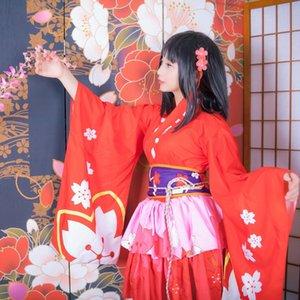wg71Z Cosplay Shi NetEase gioco Dio Yin Yang Mobile telefono del kimono kimono miglioramento cherry blossom demone