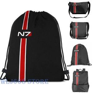 Funny graphic print shoulder Bags women N7 emblem, Mass Effect Single shoulder backpack travel for men Gym Bag