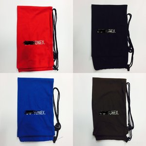Multicolor Защитный защитный бадминтонная ракетка ткани карман ракетка шнурок хранения фланель мешок двойной бадминтона покрытие LnZ6I