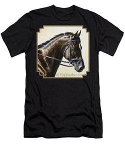 Hombres camiseta de manga corta del caballo del Dressage - Concentración para hombre de la camiseta de las mujeres de la camiseta del Tops