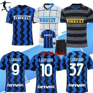 2020 2021 Eriksen Lukaku Lautaro Inter Accueil 3ème Jerseys Soccer Barella Maglia 20 21 Football Top Shirt Hommes Boys Kids Kits Ensembles Uniformes