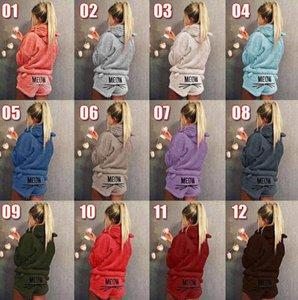 2020Women ملابس مواء القط طباعة بلايز البلوز مقنع كم طويل السراويل بيجامة مجموعات النوم بلايز القيعان الملابس الداخلية للنساء مجموعات نوم