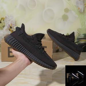 Para hombre de las zapatillas de deporte de Kanye West V2 para mujer Negro Desierto Tierra Antlia cebra Sage 3M reflectante estático Cinder Citrin Yechiel cola de los zapatos corrientes