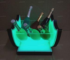 Secchiello di ghiaccio LED Benna del vino Carica Acrilico Champagne Beer Holder Bar Strumenti Decorazioni 7 colori lampeggianti