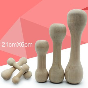 TAILUP Puppy Dog Pet Toy Durable Real Wood Dog Chew Bone Toy For Dogs, Safe And Dumbbell 5.29