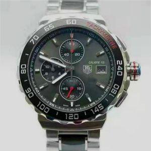Мужские спортивные часы F1 Наручные часы MONTRE Япония кварцевый хронограф TAG Men Наручные часы из нержавеющей стали Montre De Luxe