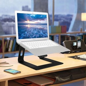 كمبيوتر محمول حامل حامل سبائك الألومنيوم المحمول القوس رفع قاعدة للكمبيوتر المكتبي تبديد الحرارة المضادة -Skid الوقوف لأجهزة الكمبيوتر المحمول