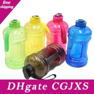 Botellas de agua de gran capacidad de 2 .2l portátil Outdoor Sports Training Running camping botella de agua de plástico de color 5 HH7 -1378