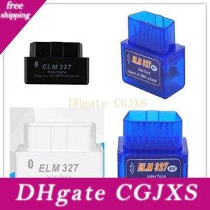 Azul Negro Obd2 venta al por mayor elm327 Bluetooth Bt Blanca Super Mini Bluetooth elm327 Obdii Soporte Todos Obdii V2 0.1 Torque