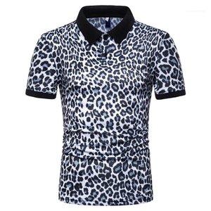 Été Designer Homme Polos Casual Mode Polo T-shirts manches courtes Tops 2020 hommes Leopard
