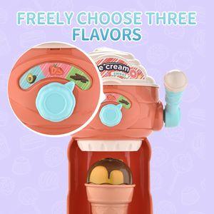 Kid Juguete simulado linda Interesante fabricante de helados juegos de simulación Y Vestir modelo de juguete para el bebé al por mayor de la muchacha