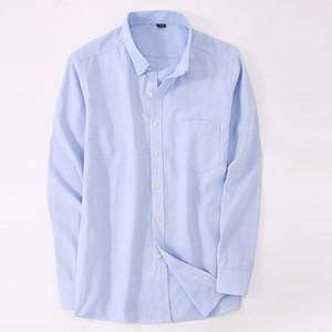 2020 Mens Oxford Macaroon Cor camisas de manga longa homens vestem camisas Business Social Formal Muitas cores para escolher