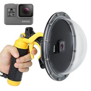 "10PCS 6 ""الغلاف ميناء قبة مقاوم للماء لمن GoPro البطل 5 6 عدسة الكاميرا حالة العودة برو Hero5 Hero6 اكسسوارات"
