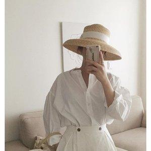 Kadınlar Plajı Hat Seyahat Tatil Hepburn Straw İçin 2020 Yeni Ürün Moda Güneş Şapkası Kadın Yaz Bow Hasır Şapka Bucket Caps