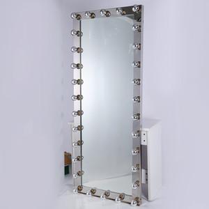 تجارة الجملة حار بيع الطراز الأوروبي الفولاذ المقاوم للصدأ مؤطرة كامل طول خلع الملابس مرآة المنزل الطابق ديكور مرآة يقف