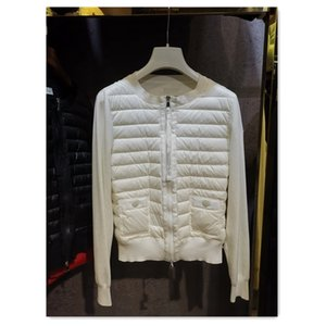 high quality women light and warm down coat 90% white duck down filling and wool knitting patchwork women casual jackets