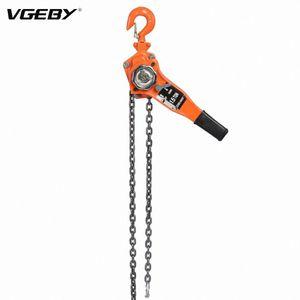 1 Set Aço Liga 1.5ton 10 pés Lever talha Ratchet Extrator de elevação Equipamento Ratchet Pulley Hoist Lever Cadeia Extrator N8q1 #