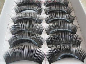 500set моды 10Pairs / серия Natural Long Ресницы Макияж Поддельные Черный макияж Styling ToolsVoluminous Extension