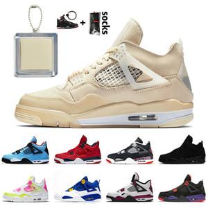 nike air jordan 4 off white retro 4 zapatillas de deporte de vela Dio neón Raptors 4 para mujer zapatos de baloncesto para hombre 4s entrenadores retro PSGs Gato Negro Bred
