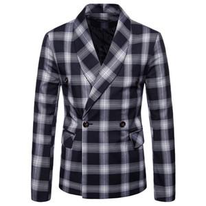 Men Suit Jacket Spring Autumn New Arrival Men's Casual coat Double-breasted Suit Blazer Men