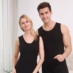 Thermal Bottoming for Winter Keep Warm Cotton Bodybuilding Tank Tops Men woman Vest Underwear Seamless Slimming Undershirts