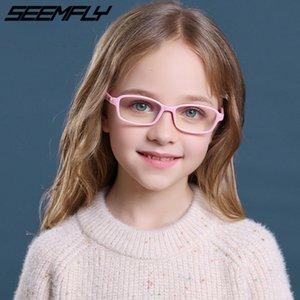 Seasfly Kids Computer Blocking Eyeglasses Ultralight Light Glasses Blue Anti Goggle Frame Game Silicone Spectole Unisex Eyewear NQSFK