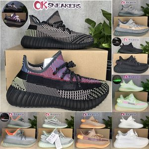 Top Quality 2021 Kanye West Cinder Yecheil Bred Oreo Desert Sage Sage Earth Linge Terre Asriel Zebra Baskets Sneakers Menwomen Chaussures de course Taille36-48