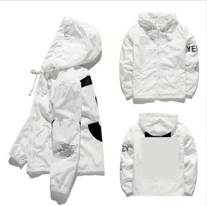 chaqueta de bombardero de hip-hop macho y hembra digital impreso con capucha clip superior suelta nueva al por mayor del estilo ocasional