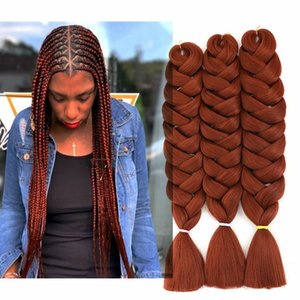 82 Inch Synthetic Crochet Hair Jumbo Braiding Hair Pre Stretched 165g Pack Low Temperature Fiber Hair Extensions For Box Braids