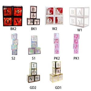 DIY Transparent Box Latex-Ballon Baby Love-Block für Babyparty Hochzeitsdeko 667b