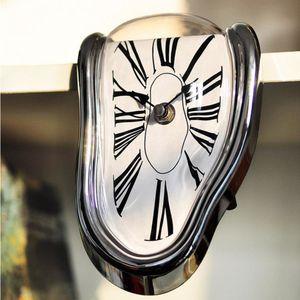 Fusión surrealista distorsionada reloj de pared surrealista Salvador Dalí Reloj de pared de estilo