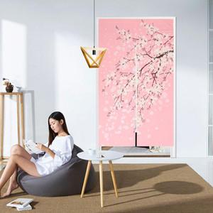Japanese Artistic Style Sakura Door Curtain for Home Kitchen Door Decor