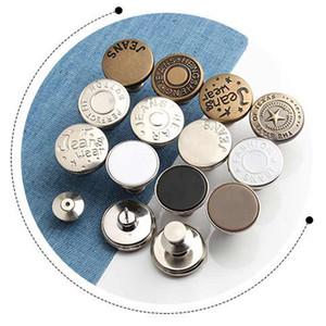 Металлические джинсы Кнопки Аксессуары для одежды Sewing крепежей DIY Выдвижной Регулируемые кнопки Съемные Вогнутые Сплав талии VT1482