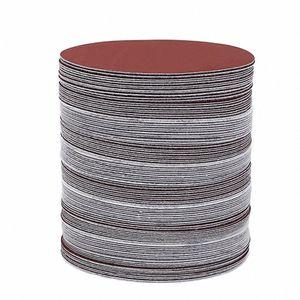 Sander irmik hIRb # için Döngü Zımpara Diski Hook seç için 100pcs 6 İnç 150mm Yuvarlak Zımpara Disk Kum Sayfaları Grit 40-2000