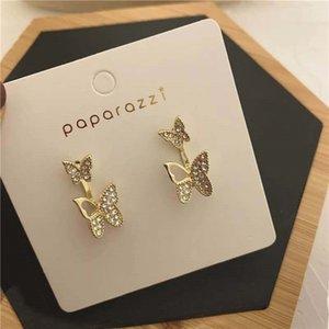 ohUPb 925 gümüş ayrılabilir iki çeşit kelebek ve aşınma stil yaz Süper Peri Butterfly küpe küçük sevimli tatlı Mori kız enfes