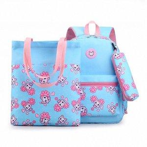 Kids Student School Bag Set Children School Cute Animal Cartoon Backpacks For Children Shoulder Bag Girls Trolley Bags Backpacks For G ApBJ#