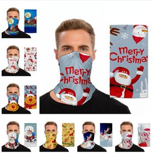 Christmas Magic Turban Outdoor Faceshield Sports Cycling Xmas Scarf Decoration Mountaineering Mask Multifunctional Facial Cover LJJP461