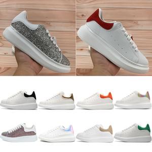 En Kaliteli Erkek Kadın Platformu Ayakkabı Yansıtıcı Sneakers Gümüş Kırmızı Pullu Bordo Çok Renkli Siyah Kadife Kuyruk Kraliyet Yılan Doku Eğitmenleri