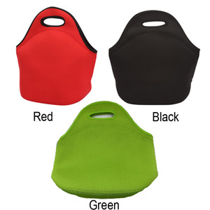 Neoprene Lunch Bag Portable Insulation Lunch Box Bag Kitchen Storage Bags For Outdoor Travel Picnic Thermal Bags 3 Colors CY BH2125