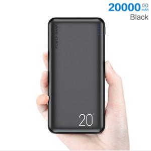 Power Bank 20000MAH Chargement portable PowerBank Téléphone mobile Chargeur de batterie externe Powerbank 20000 MAH