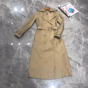 Brand New Winter Autumn Long Women Trench Coat Double Breasted Belted Storm Flaps Khaki Dress Loose Coat Lady Outerwear Fashion