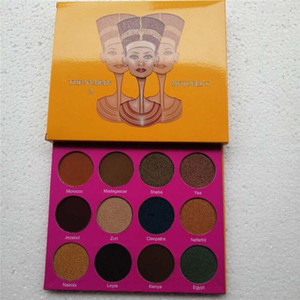 Juvia'smakeup Juvia Palette der gleiche Stil magische nubian Lidschatten-Palette Cleopatra Lidschatten schimmernde Perle Swatches Freies Verschiffen