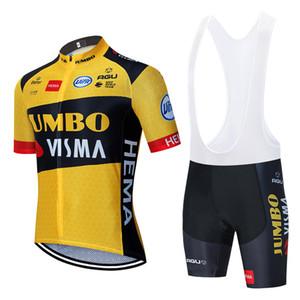 2020 Yeni Jumbo Visma Bisiklet Takımı Jersey 20D Bisiklet Şort Takım Elbise Ropa Ciclismo Erkek Yaz Pro Bisiklet Maillot Pantolon Giyim