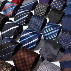 Hand-woven men's tie 7cm luxury striped flower print men's tie wedding date narrow arrow slim tie