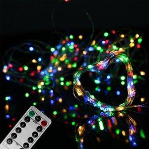 LED-Schnur-Lichter USB / batteriebetriebenes 5m 50LED / 10m 100LED Beleuchtung String im Freien Innendekoration Weihnachten Hochzeit Licht