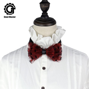 Gothic Party Банкет Halloween Темперамент Bow Tie Suit Карманный Полотенце Bow Tie ретро Lace мужские