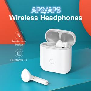 janela pop-up auricular sem fios A2 A3 para emparelhar automaticamente tws chips H1 Bluetooth Headphones Vem com carregamento sem fio e caixa PK i9s i7
