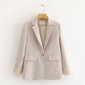D737H 65MR-200308-coreano vestuário 2020 pequeno 65mr-200308 suitcontrast terno coreano cor estilo britânico terno novo das mulheres das mulheres primavera fina